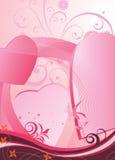 Fond abstrait avec le coeur illustration stock
