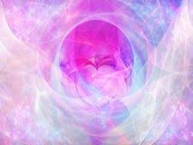 Fond abstrait avec le coeur de fractale Collage de Digital Image libre de droits