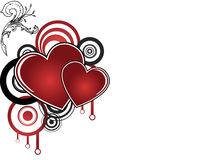 Fond abstrait avec le coeur rouge Images libres de droits