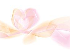 Fond abstrait avec le coeur (vecteur) Image stock