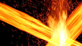 Fond abstrait avec le feu brûlant Lignes de feu banque de vidéos