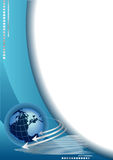 Fond abstrait avec le globe illustration libre de droits