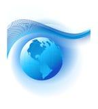 Fond abstrait avec le globe bleu Photos libres de droits
