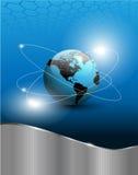 Fond abstrait avec le globe du monde Image libre de droits