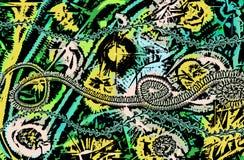 Fond abstrait avec le graphique coloré Photo libre de droits