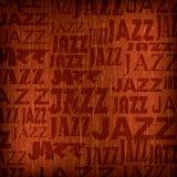 Fond abstrait avec le jazz de mot Photographie stock