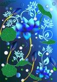Fond abstrait avec le lotus Images libres de droits