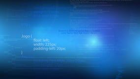 Fond abstrait avec le manuscrit de programmation de Web Photographie stock