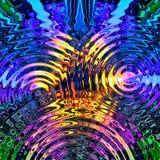 Fond abstrait avec le modèle coloré multi décoratif, illustration numérique illustration de vecteur