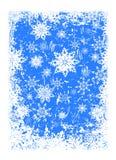 Fond abstrait avec le motif d'hiver Images libres de droits
