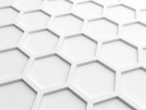 Fond abstrait avec le nid d'abeilles blanc Photographie stock