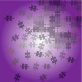 Fond abstrait avec le puzzle violet illustration de vecteur