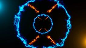 Fond abstrait avec le tunnel d'énergie Photographie stock