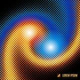Fond abstrait avec le vortex en spirale Images stock