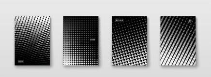 Fond abstrait avec les éléments noirs, blancs, gris, texture tramée Conception monochrome d'affiche de modèle Tendance minimale illustration libre de droits