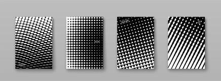 Fond abstrait avec les éléments noirs et blancs, texture tramée Conception monochrome d'affiche de modèle Couverture minimale de  illustration de vecteur