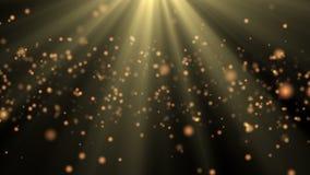 Fond abstrait avec les étincelles brillantes de bokeh d'animation de 4K vidéo ultra HD illustration libre de droits