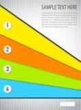 Fond abstrait avec les bannières colorées Photo libre de droits