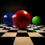 Fond abstrait avec les boules colorées Images stock
