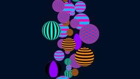 Fond abstrait avec les boules décoratives multicolores illustration libre de droits