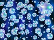Fond abstrait avec les bulles dispersées colorées Photo libre de droits