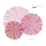 Fond abstrait avec les cercles rayés Photos libres de droits