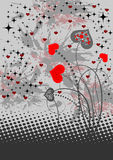 Fond abstrait avec les coeurs rouges Illustration de Vecteur