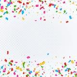 Fond abstrait avec les confettis en baisse Photographie stock libre de droits