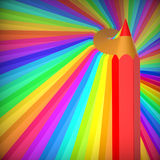 Fond abstrait avec les crayons colorés. Illustration Stock