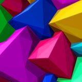 Fond abstrait avec les cubes colorés et les ombres triangulaires pour des magazines, des livrets ou l'écran de serrure de télépho illustration libre de droits