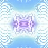 Fond abstrait avec les lignes et les formes incurvées Déformation de l'espace Images stock
