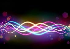 Fond abstrait avec les lignes multicolores Photo libre de droits