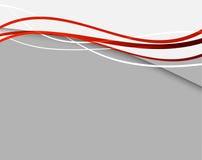 Fond abstrait avec les lignes rouges Photo stock