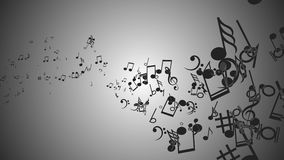 Fond abstrait avec les notes colorées de musique Boucle sans couture