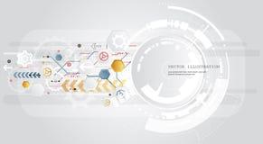 Fond abstrait avec les ondes colorées Vecteur Conception ondulée élégante Photographie stock libre de droits