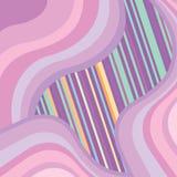 Fond abstrait avec les ondes multicolores Photos libres de droits