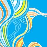 Fond abstrait avec les ondes multicolores Image stock