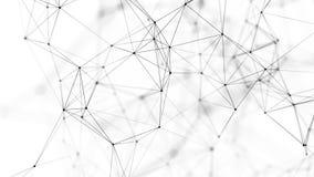 Fond abstrait avec les points et les lignes se reliants Structure de connexion r?seau rendu 3d illustration de vecteur