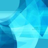 Fond abstrait avec les rayures bleues Images libres de droits