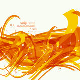 Fond abstrait avec les rayures oranges Photographie stock