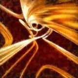 Fond abstrait avec les rubans tordus onduleux Photo stock