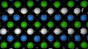 Fond abstrait avec les sphères 3d réalistes Contexte coloré Image libre de droits