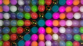 Fond abstrait avec les sphères 3d réalistes Contexte coloré Photo libre de droits
