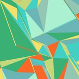 Fond abstrait avec les triangles colorées pour des magazines, des livrets ou l'écran mobile de serrure Illustration Libre de Droits
