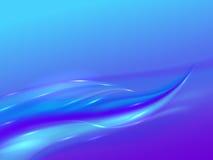 Fond abstrait avec les vagues pourpres bleues Photos stock