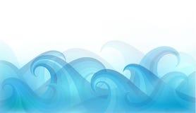 Fond abstrait avec les vagues stylisées sur un fond clair Image libre de droits