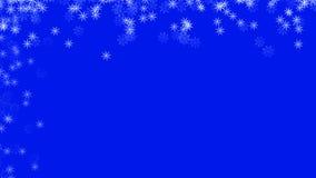 Fond abstrait avec un grand choix de flocons de neige colorés Grand et petit photographie stock