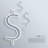 Fond abstrait avec un symbole dollar Images libres de droits