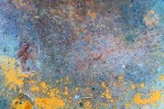 Fond abstrait basé sur la vieille feuille de fer avec des taches de rouille image stock