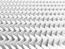 Fond abstrait blanc d'onde 3D rendent, une source lumineuse, ombres molles Photographie stock